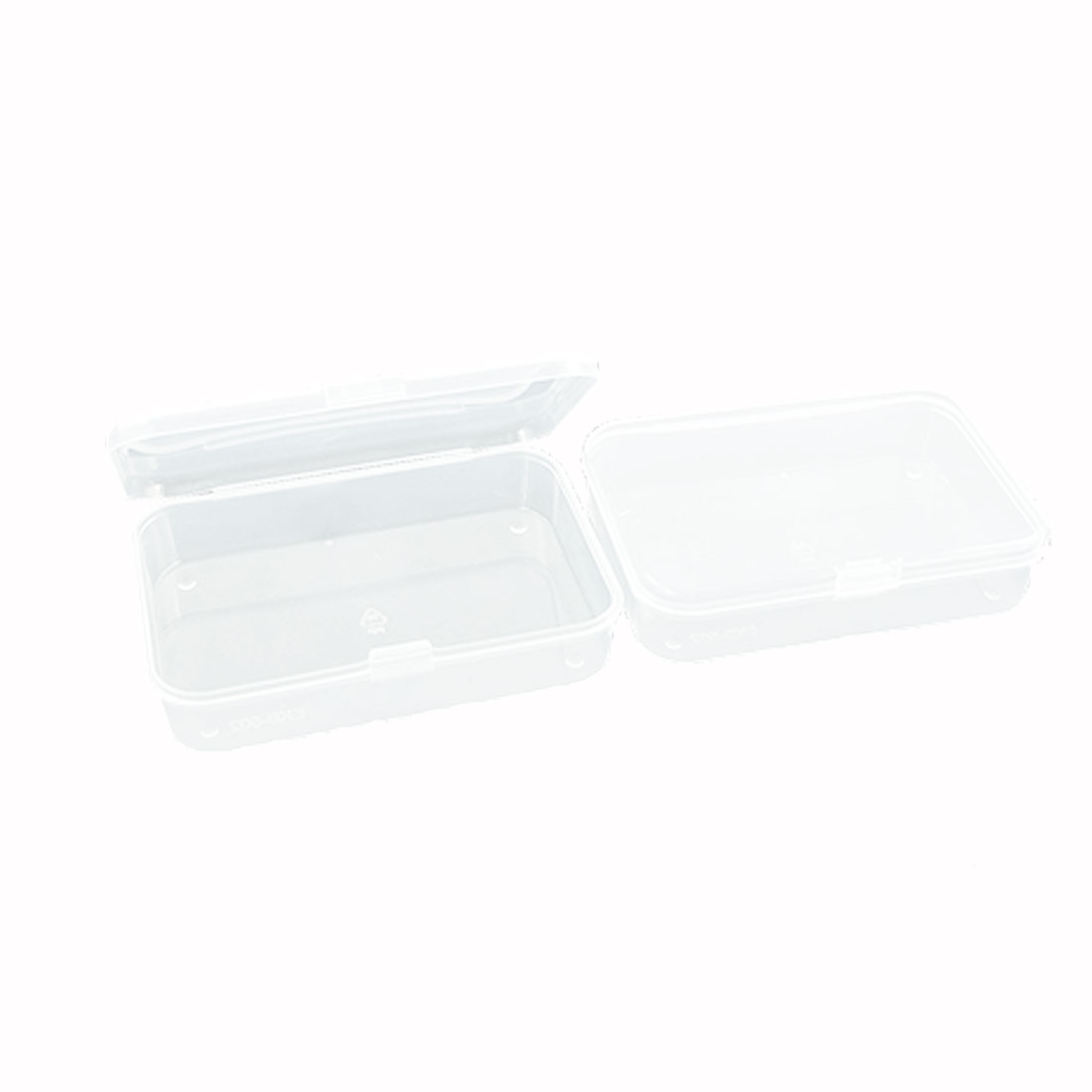 2 Pcs Household Clear Plastic Storage Case Container for Jewelry