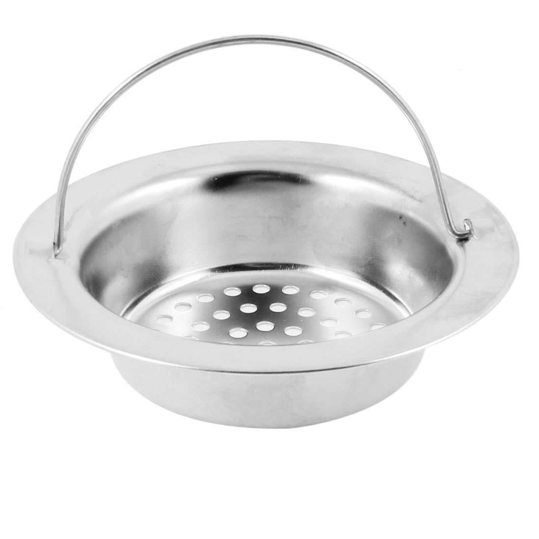 Bathroom Silver Tone Stainless Steel Floor Drain 8.5-9.5cm Dia Strainer Cover
