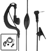 Black 2 Ways Radio Hook Earpiece for Motorola Walkie Talkie T5728