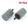 10 Pcs Gray 15mm x 25mm Cylinder Mini Bubble Air Stone for Aquarium