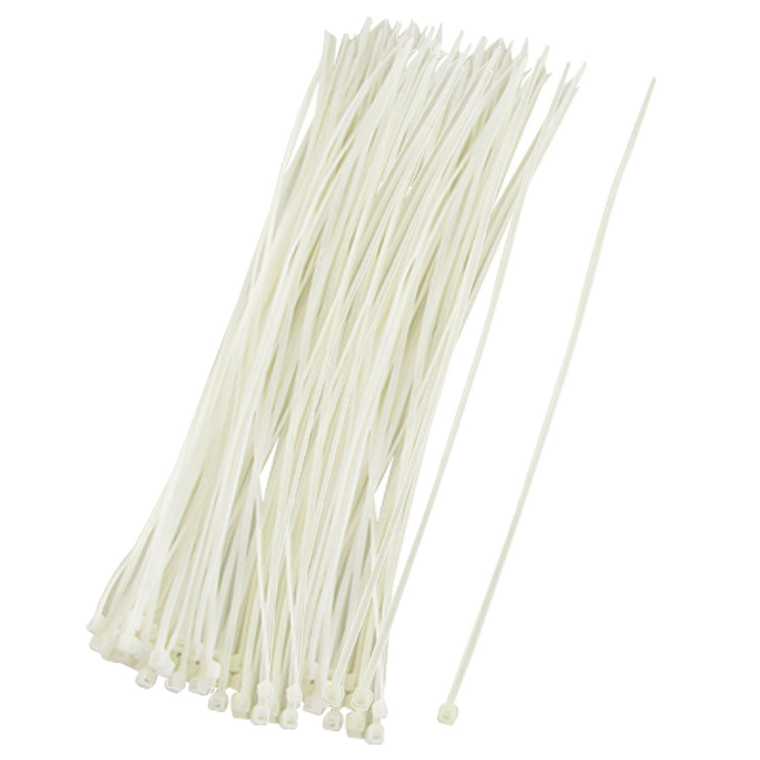 150 Pcs Off White Plastic 290 x 4mm Wire Zip Cable Ties