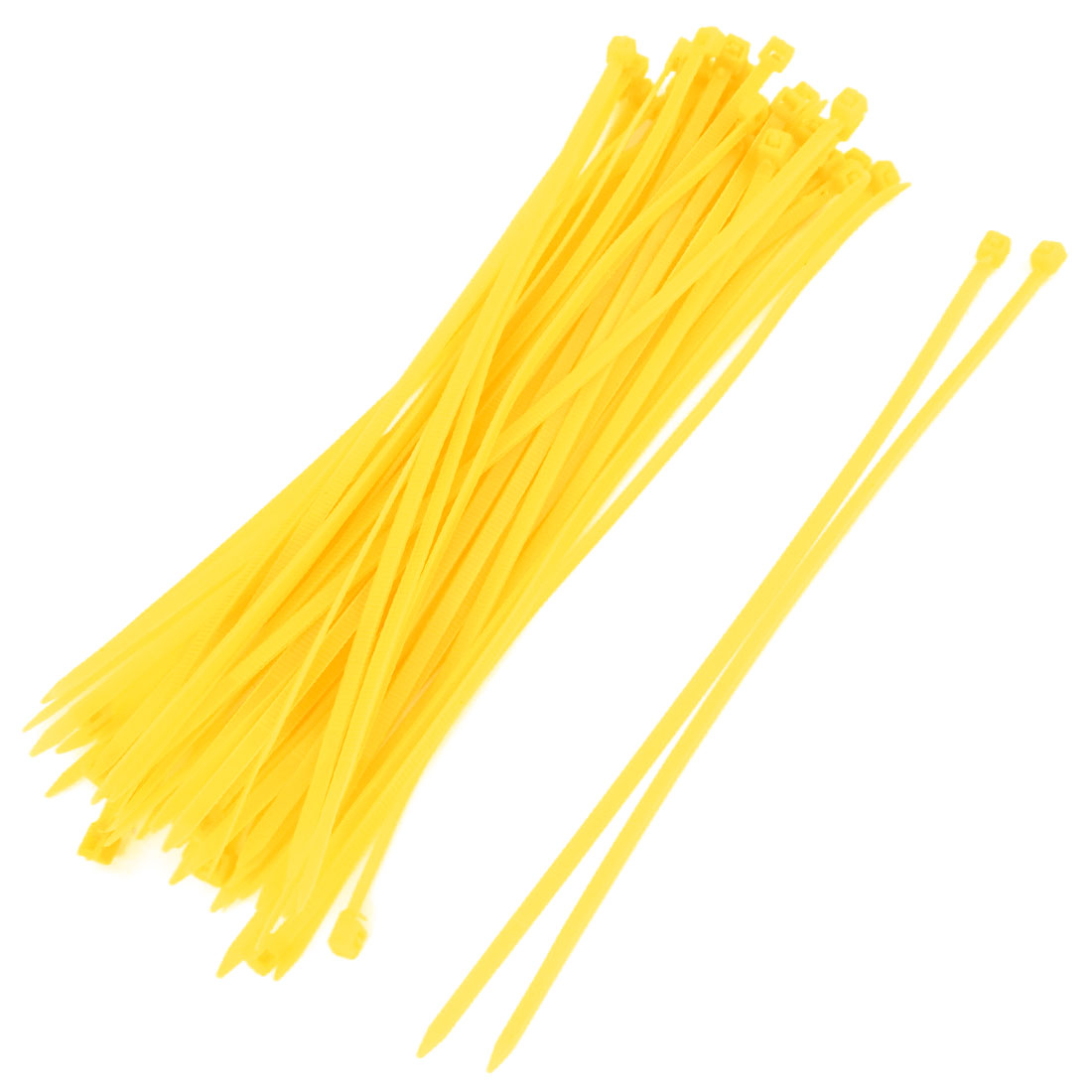 50 Pcs Dark Yellow Plastic 190 x 3mm Wire Zip Cable Ties