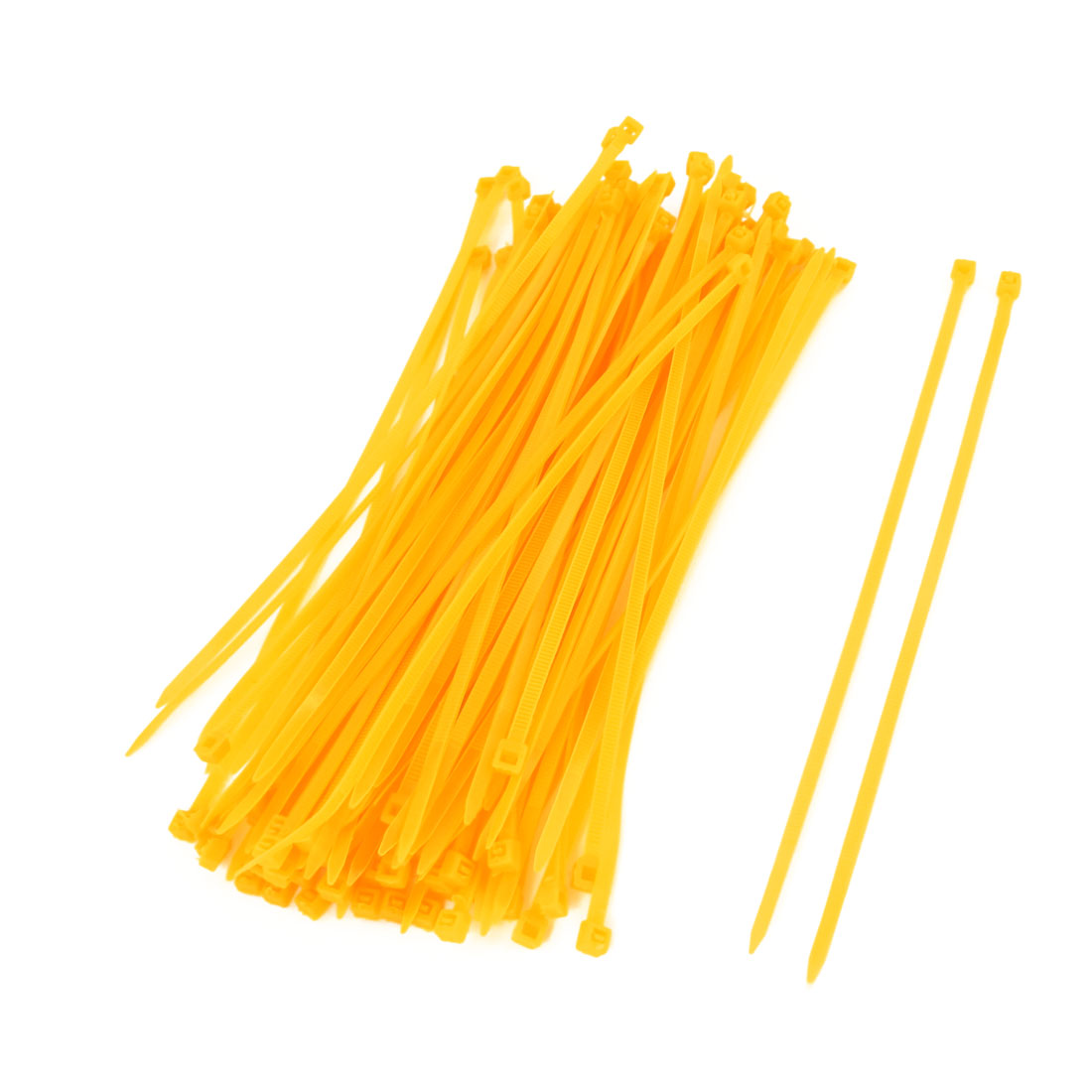Dark Yellow Plastic 190mm Length Wire Cable Ties 100 Pcs