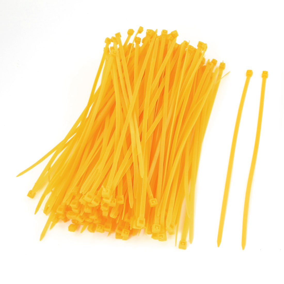 200 Pcs Dark Yellow Plastic 190 x 3mm Wire Zip Cable Ties