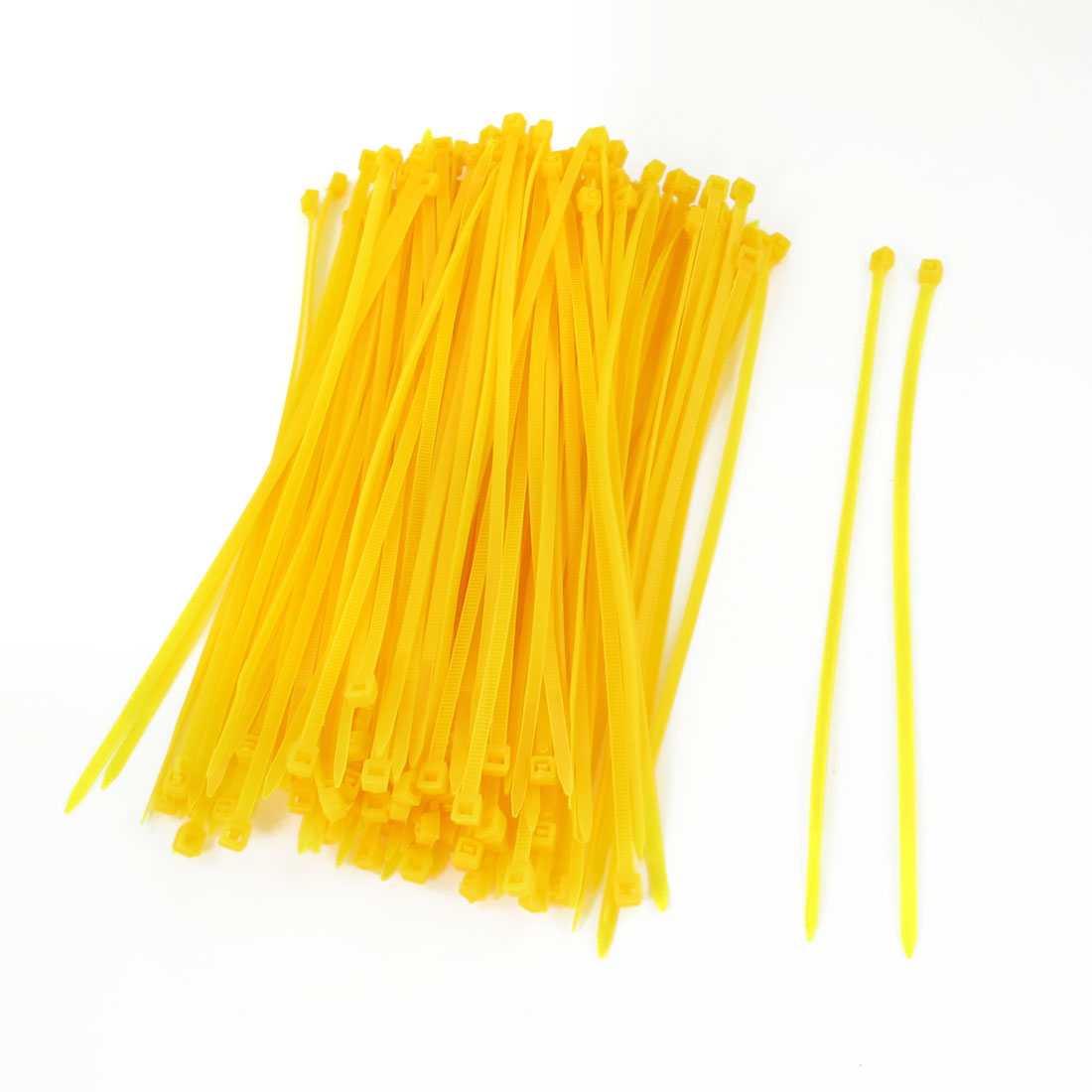 Dark Yellow Plastic 190mm Length Wire Cable Ties 150 Pcs