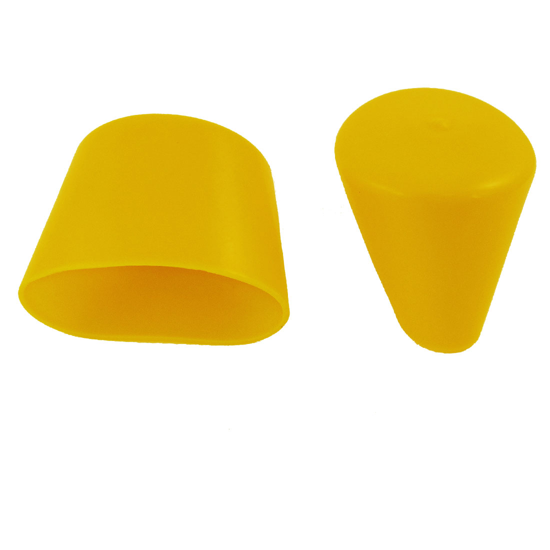 Yellow Rubber 70mm Dia Chair Table Couch Leg Foot Covers Protectors 2 Pcs