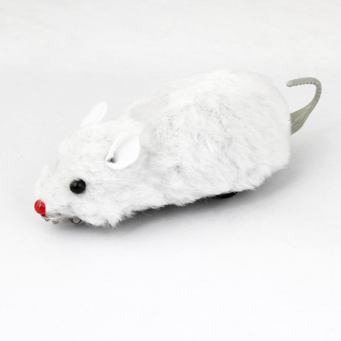 White Plush Coated Plastic Mini Mice Mouse Pull Back and Go Toy for Kids