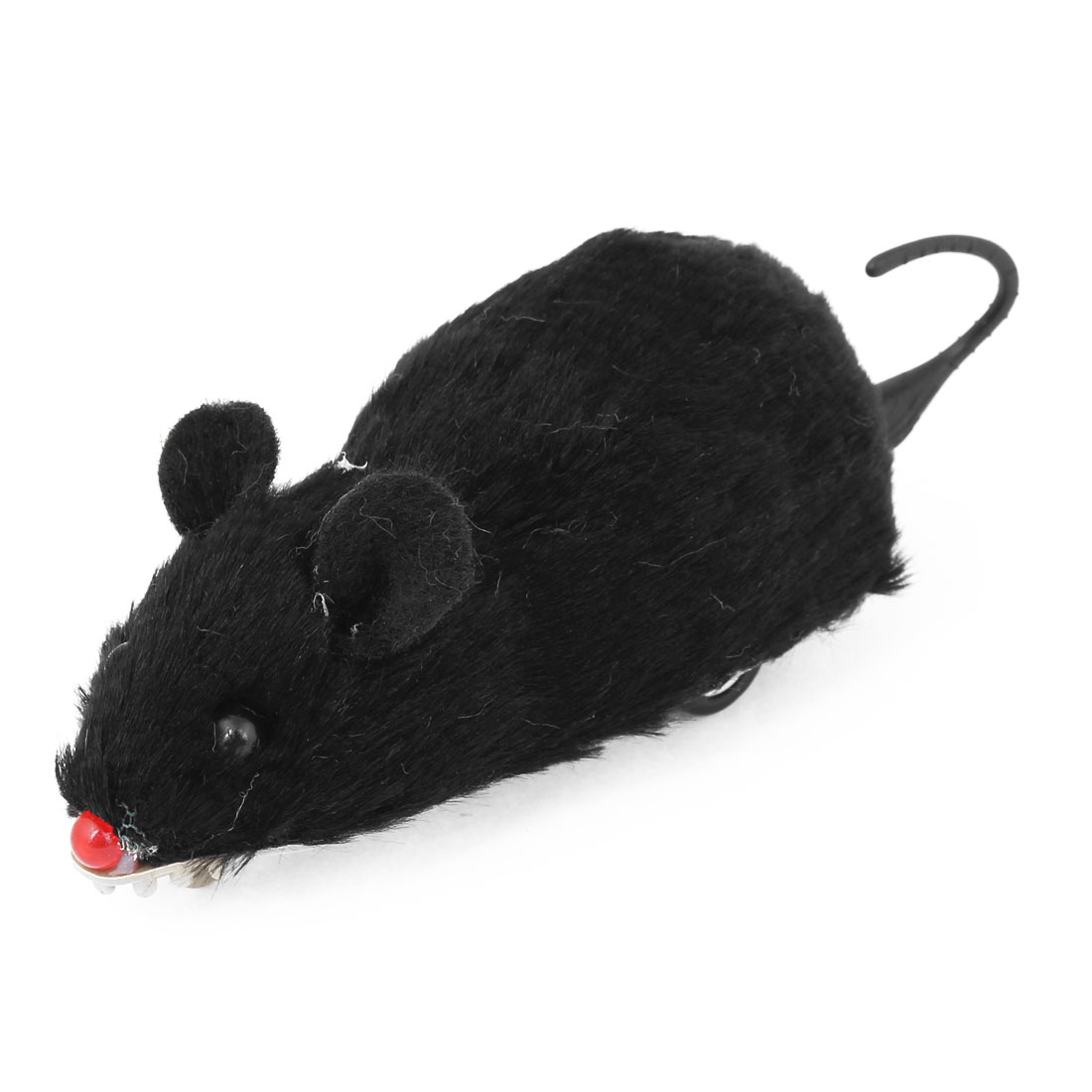 Children Kids Black Soft Surface Plastic Mouse Mice Pull Back and Go Toy