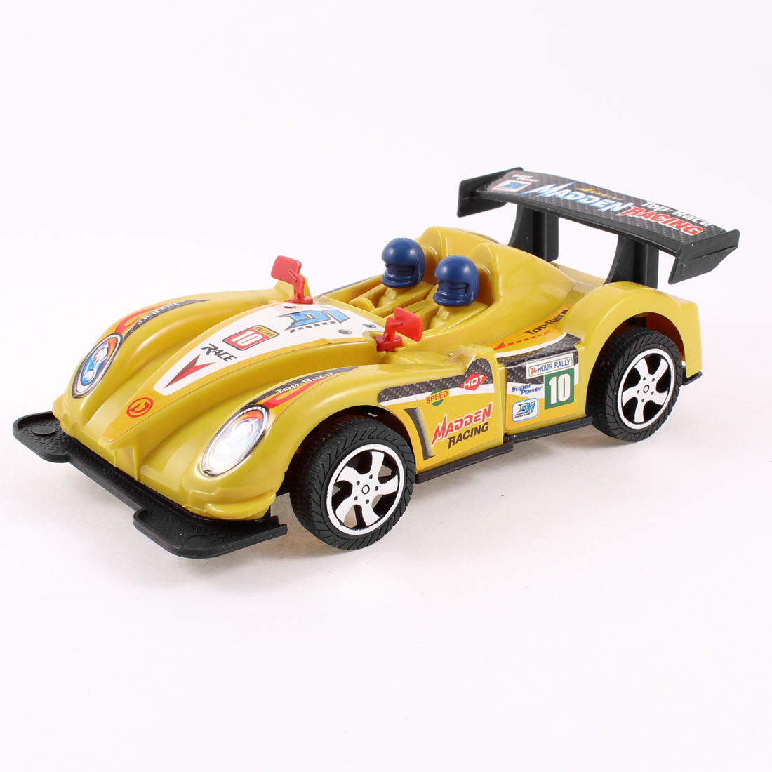 Yellow Black Plastic Emulational Racing Car Pull String Toy for Kids