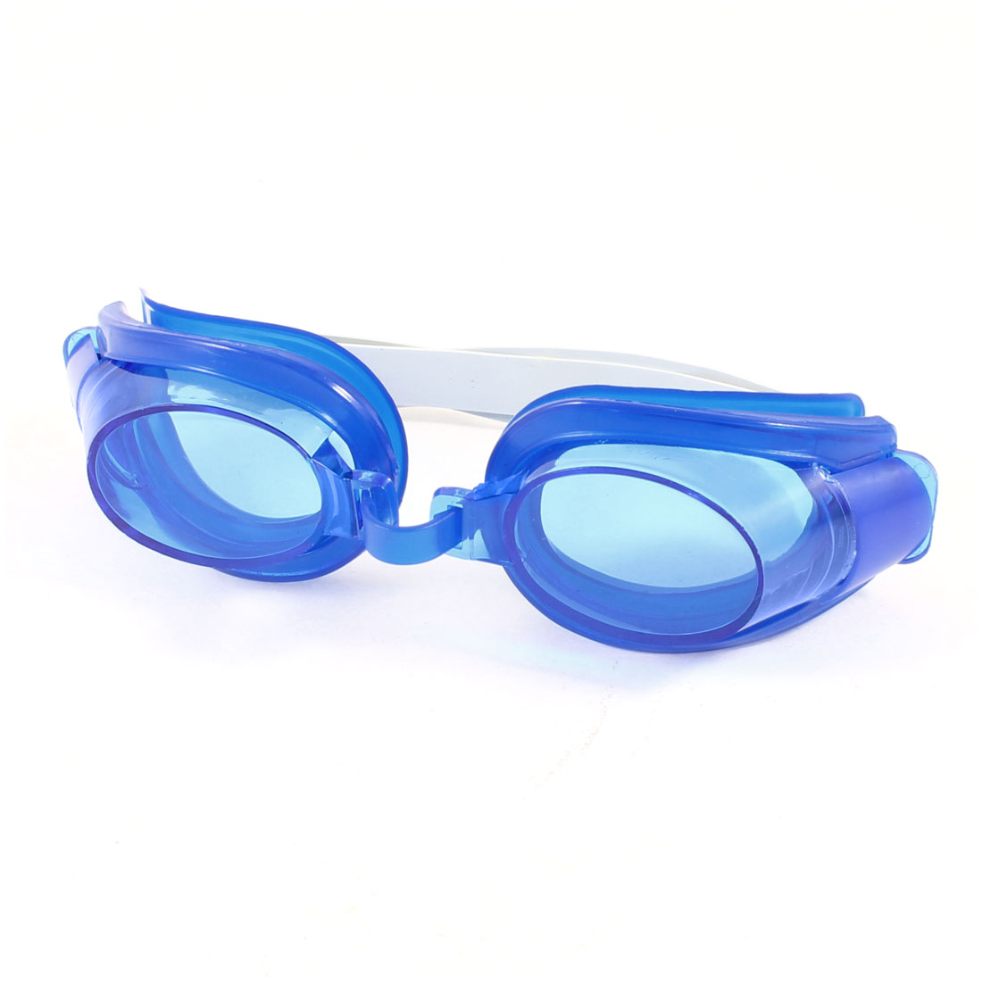 Children Kids Adjustable Headstrap Blue Swimming Goggles Eyeglasses