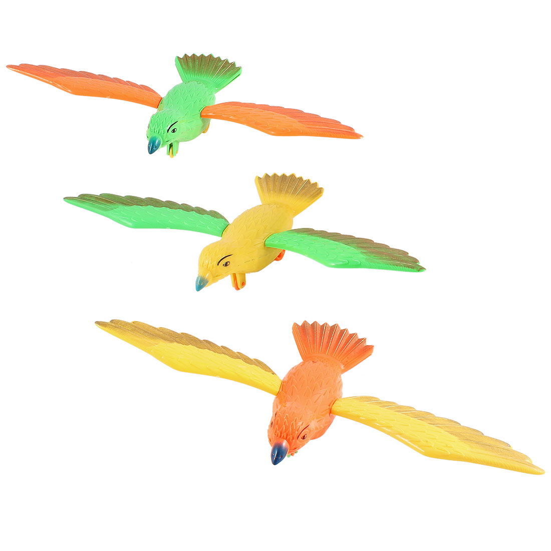 3pcs Multicolor Plastic Bird Design Pull String Play Toy for Child