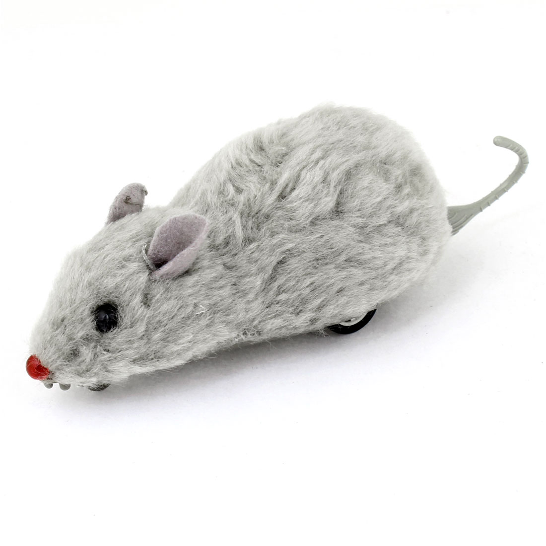 Children Kids Gray Soft Surface Plastic Mouse Mice Pull Back and Go Toy