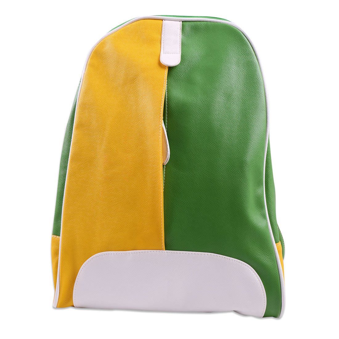 Children Adjustable Straps Contrast Color Backpacks Yellow Green