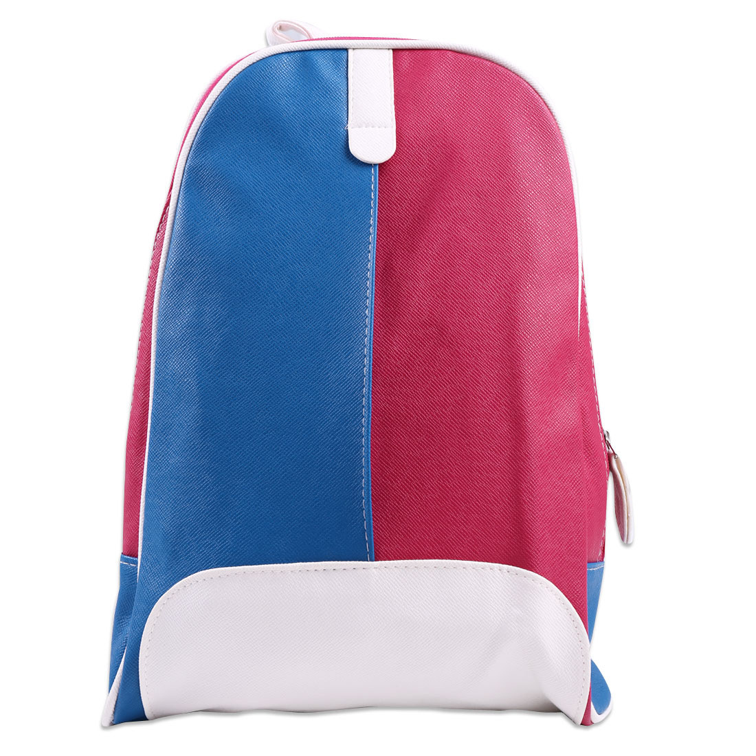 Boys Girls Zip Up Pocket Front Splice Backpacks Royal Blue Fuchsia