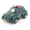 Child Green Black Plastic Artificial Police Car Pull String Playing Toy