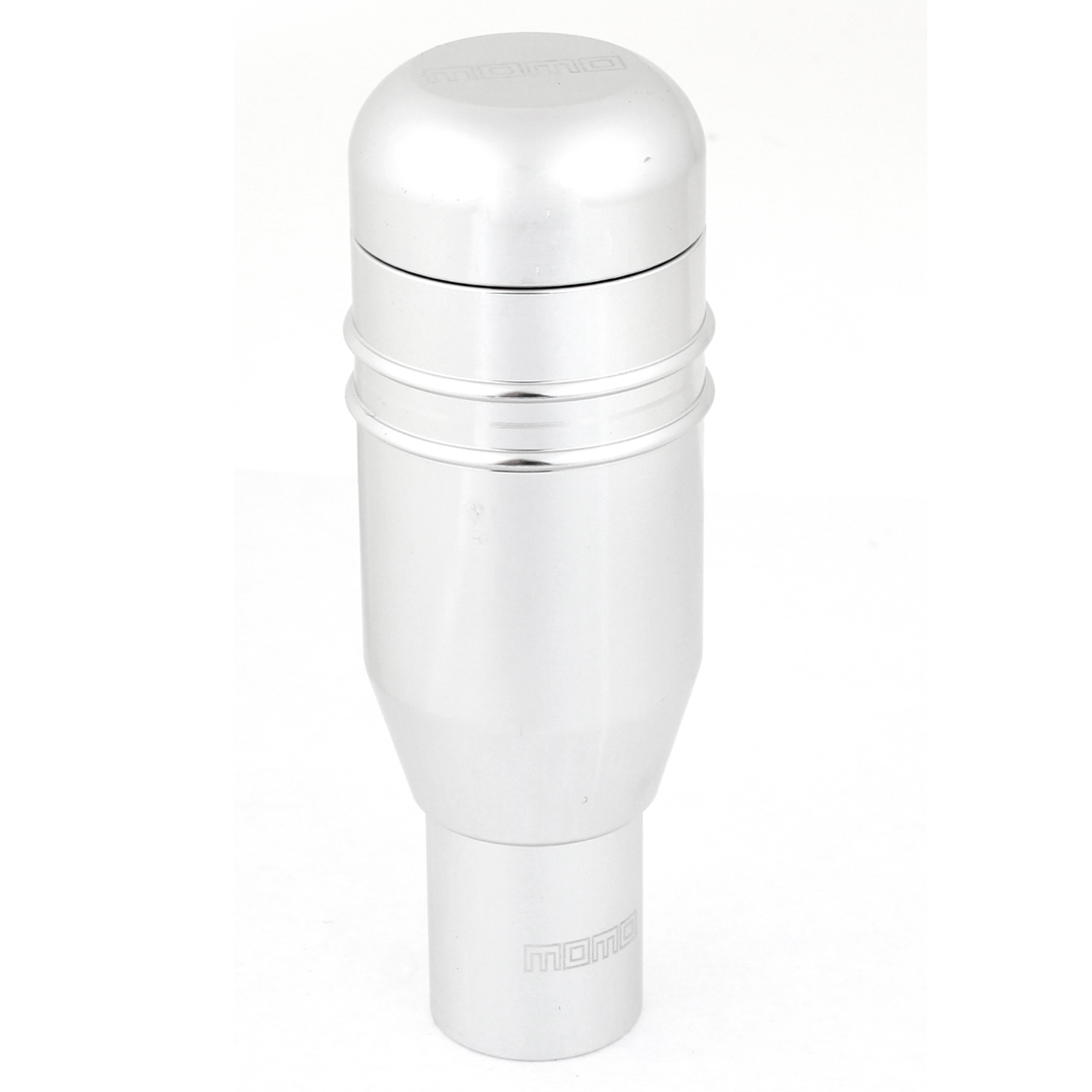 Silver Tone Metal Gear Shift Lever Knob 9.7cm Long for Car