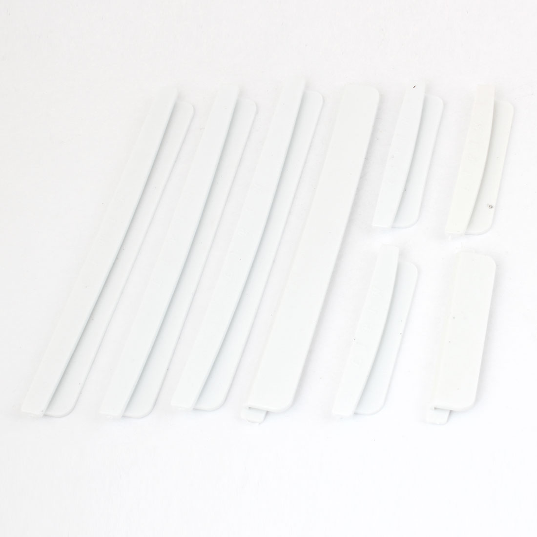 Vehicle Car Plastic Door Protector Guard Sticker White 8pcs w Adhesive Tape