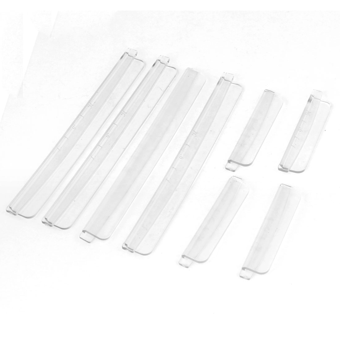 8 x Soft Plastic Door Mirror Edge Guard Protector Sticker Clear for Auto