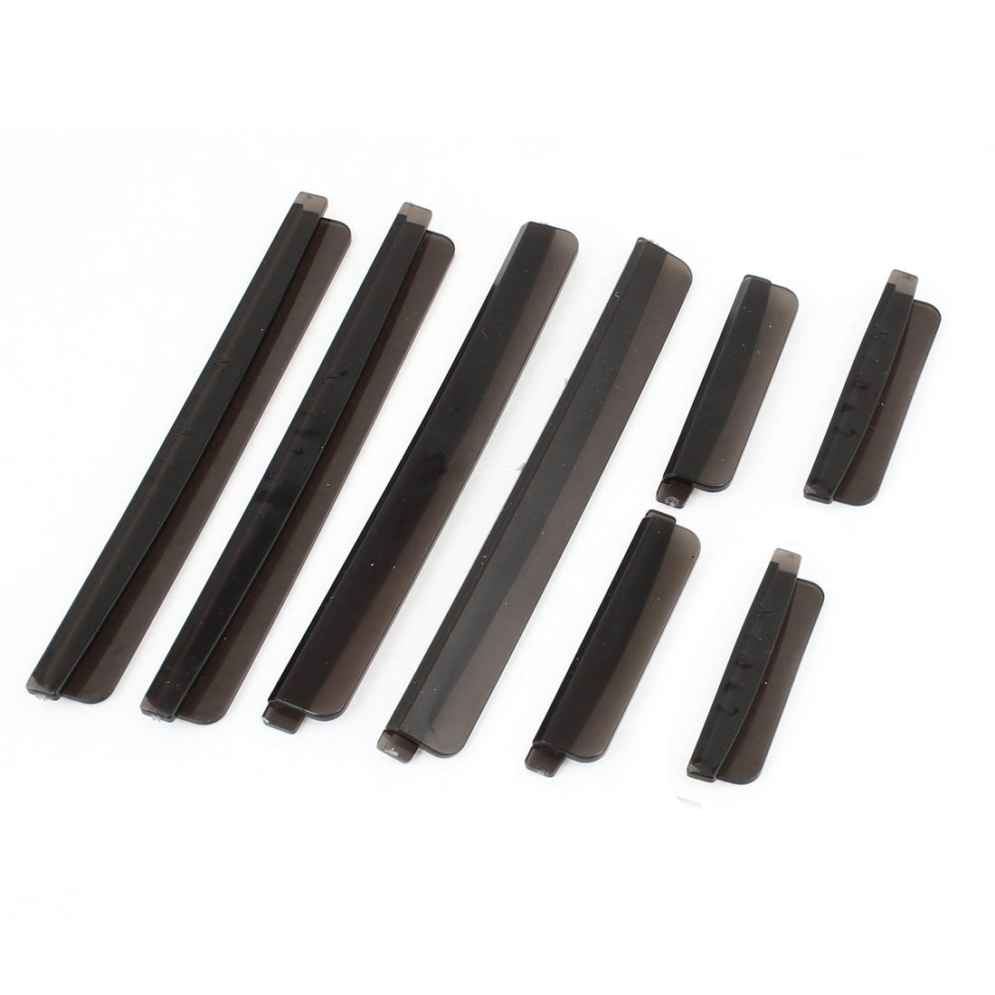 8 Pcs Black Soft Plastic Door Guard Sticker w Dual Adhesive Tape for Car