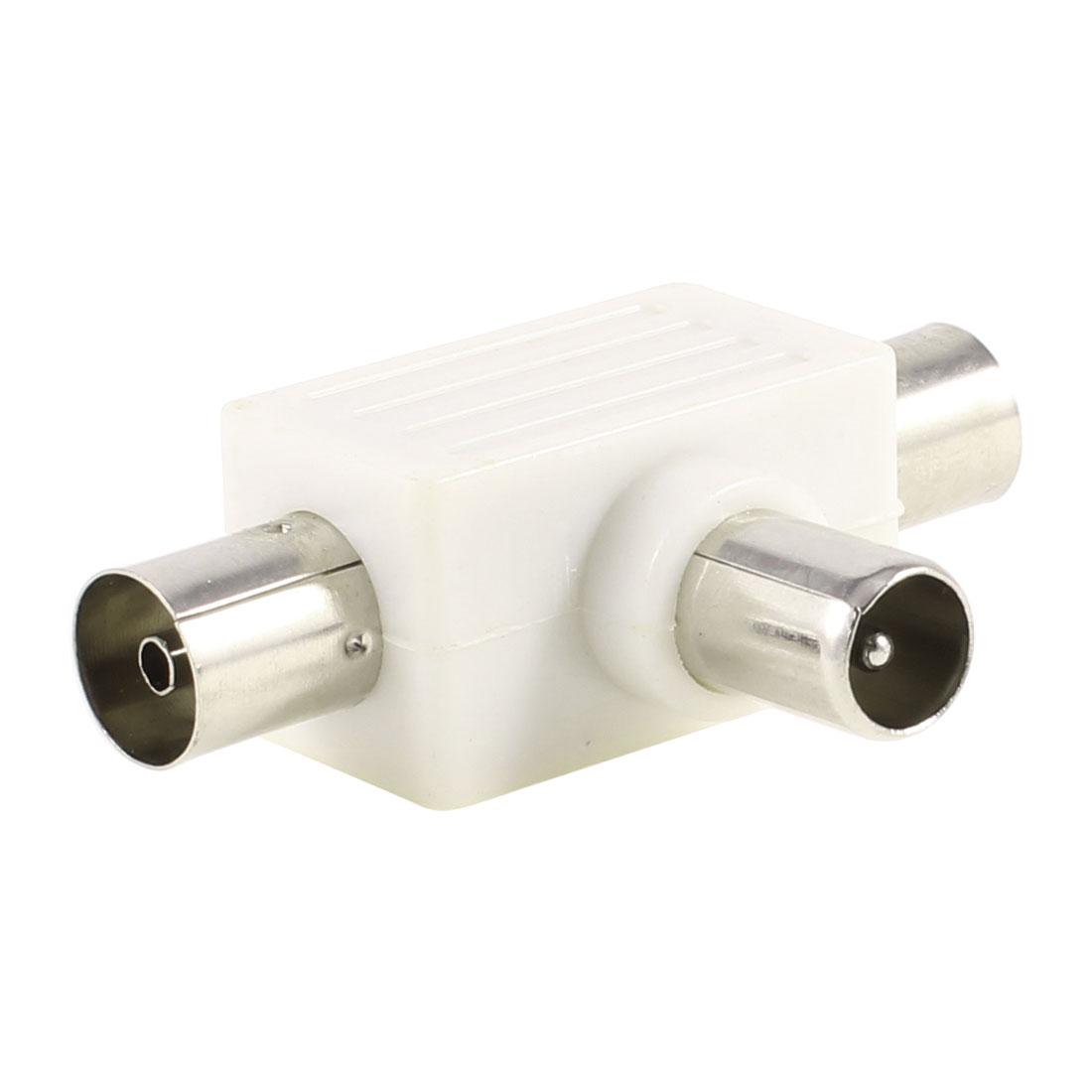CCTV Camera BNC 3 Way Male to 2 Female Plug RF Coaxial Converter Connectors