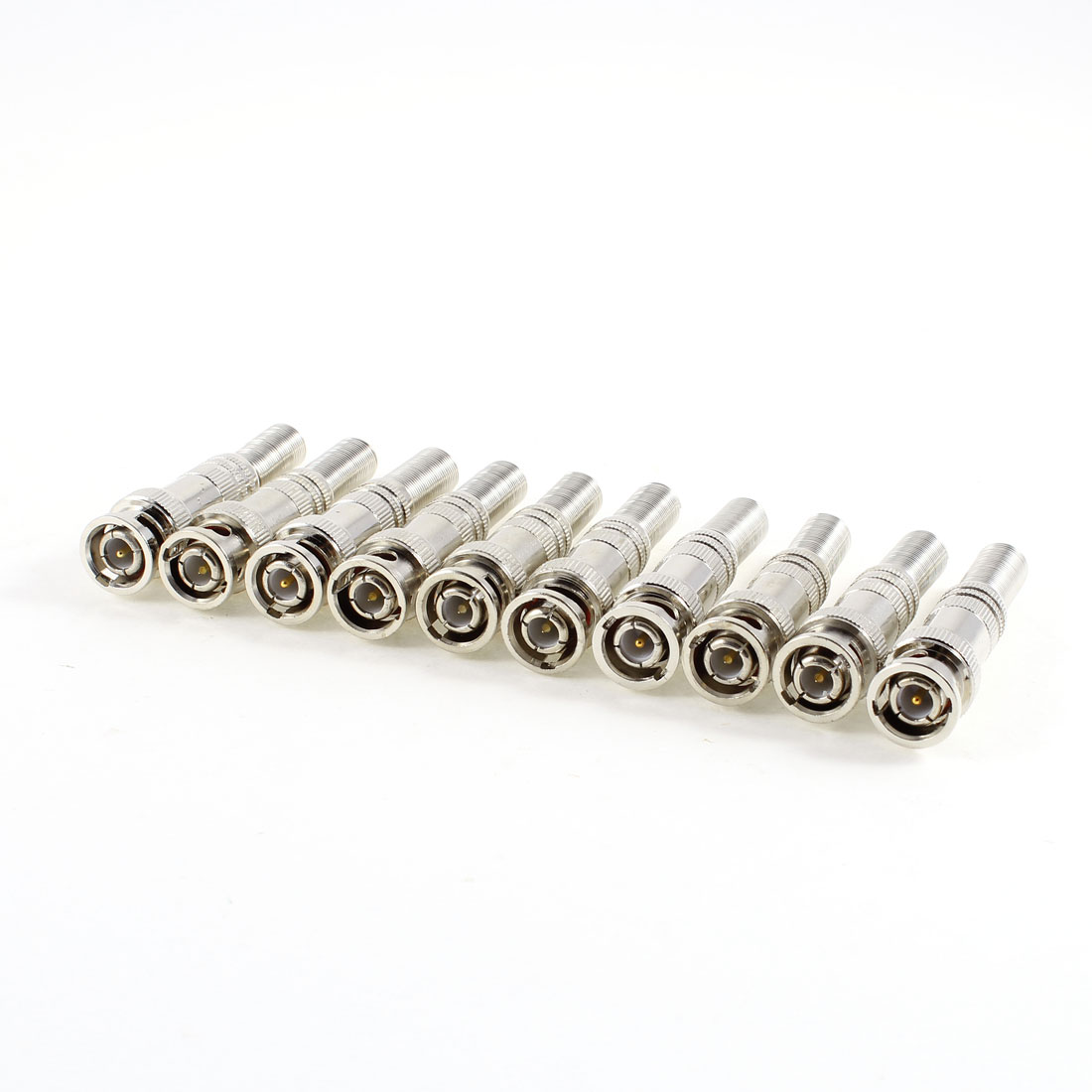 10 Pcs Twist Spring BNC Male Connector for CCTV Camera Coaxial Cable