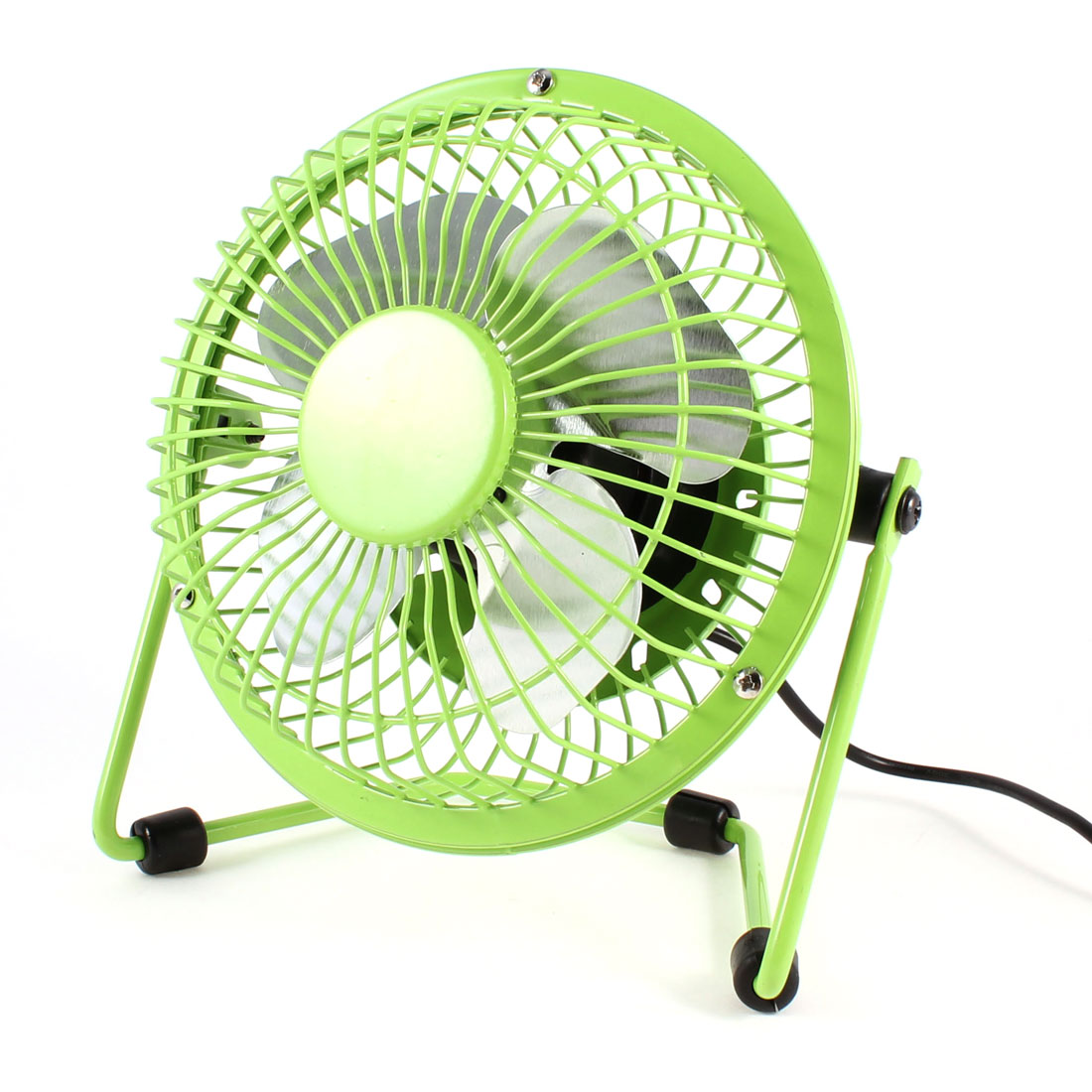 USB Plug Metal Direction Adjustment PC Computer Cooling Fan Green