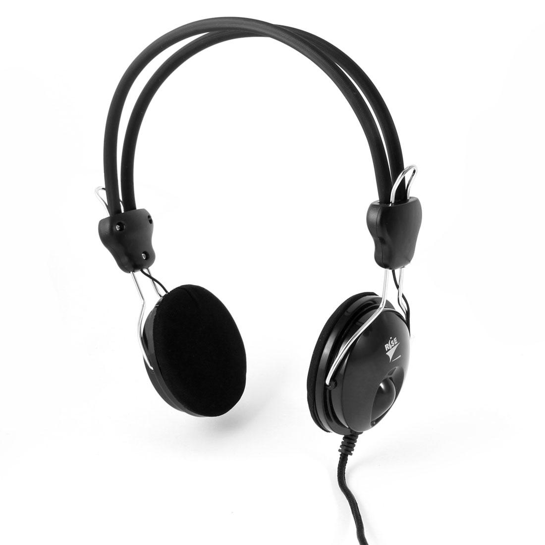 Omnidirection -58dB Adjustable Band 3.5mm Plug Earphone Headphone Headset w Mic