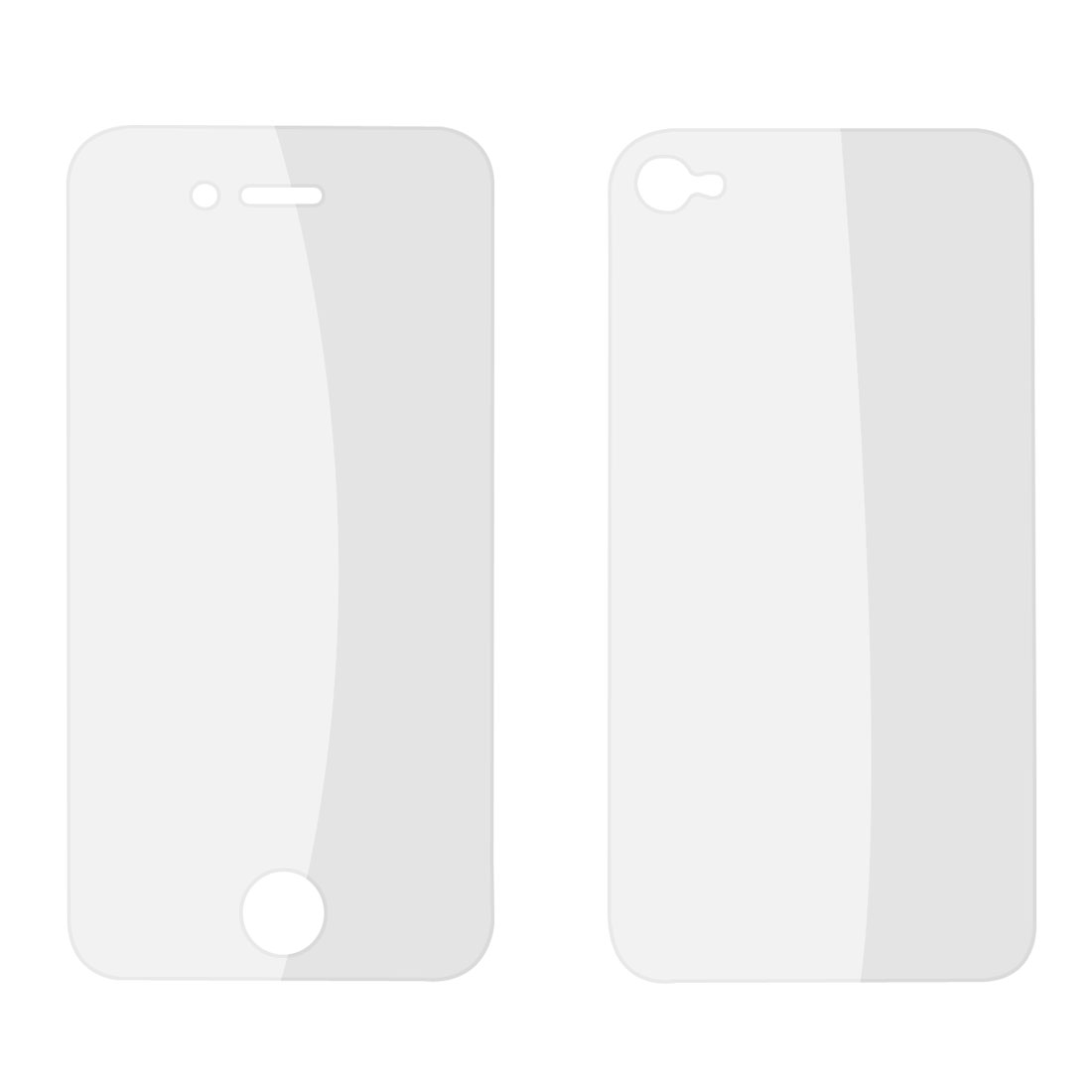 Front Back Transparent Matte LCD Screen Guard for iPhone 4 4G 4S 4GS