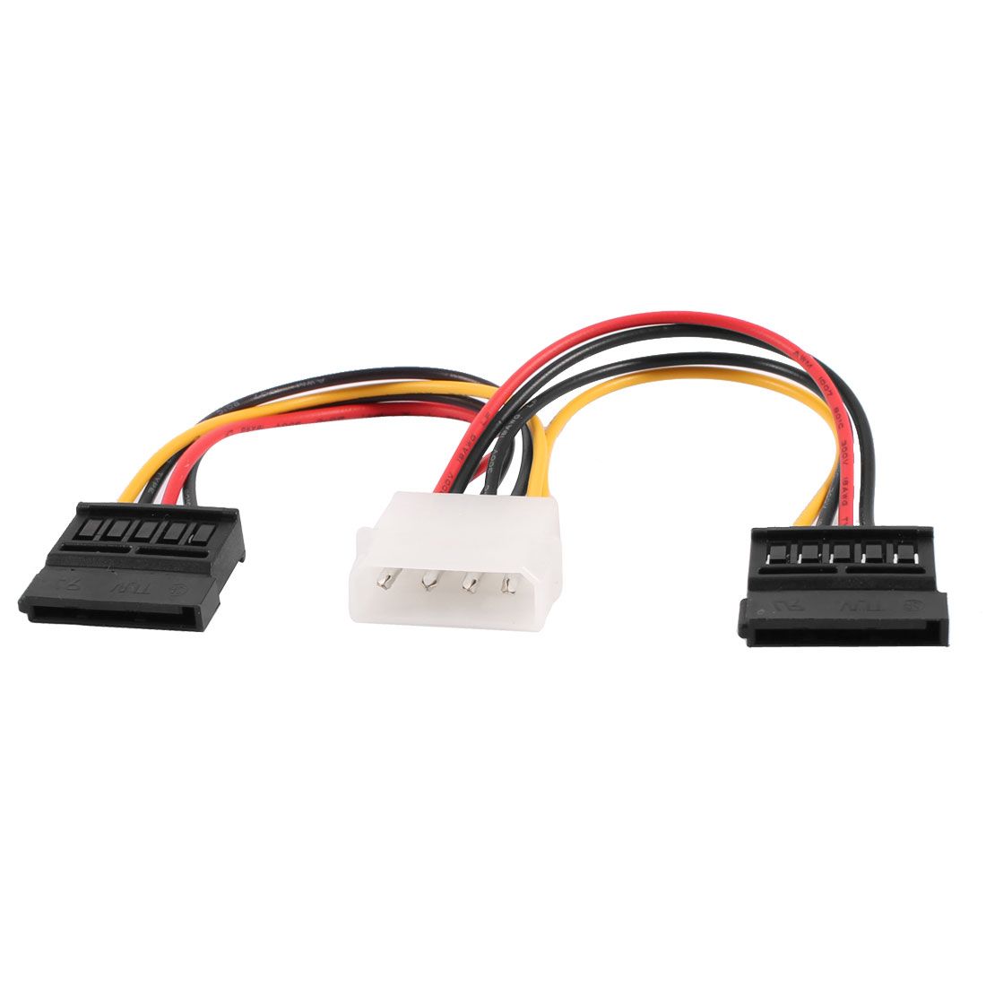"17cm 7"" 4 Terminal Male to Dual 12 Terminal SATA Female Adapter Cable"