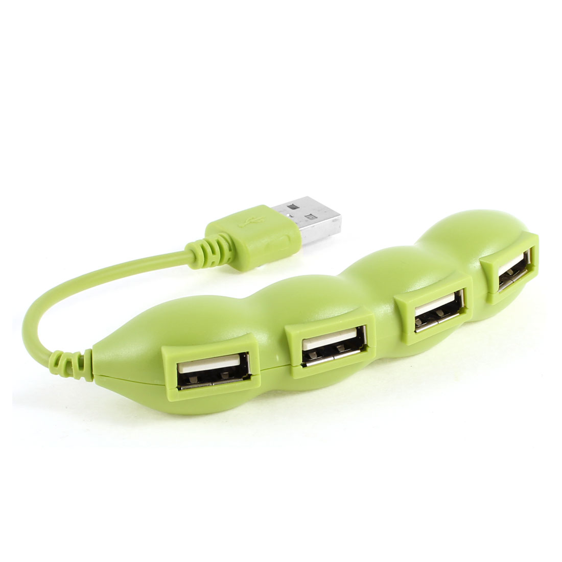 480mbs 500GB Laptop Notebook USB 2.0 Pea Shaped 4-Port Hub Green