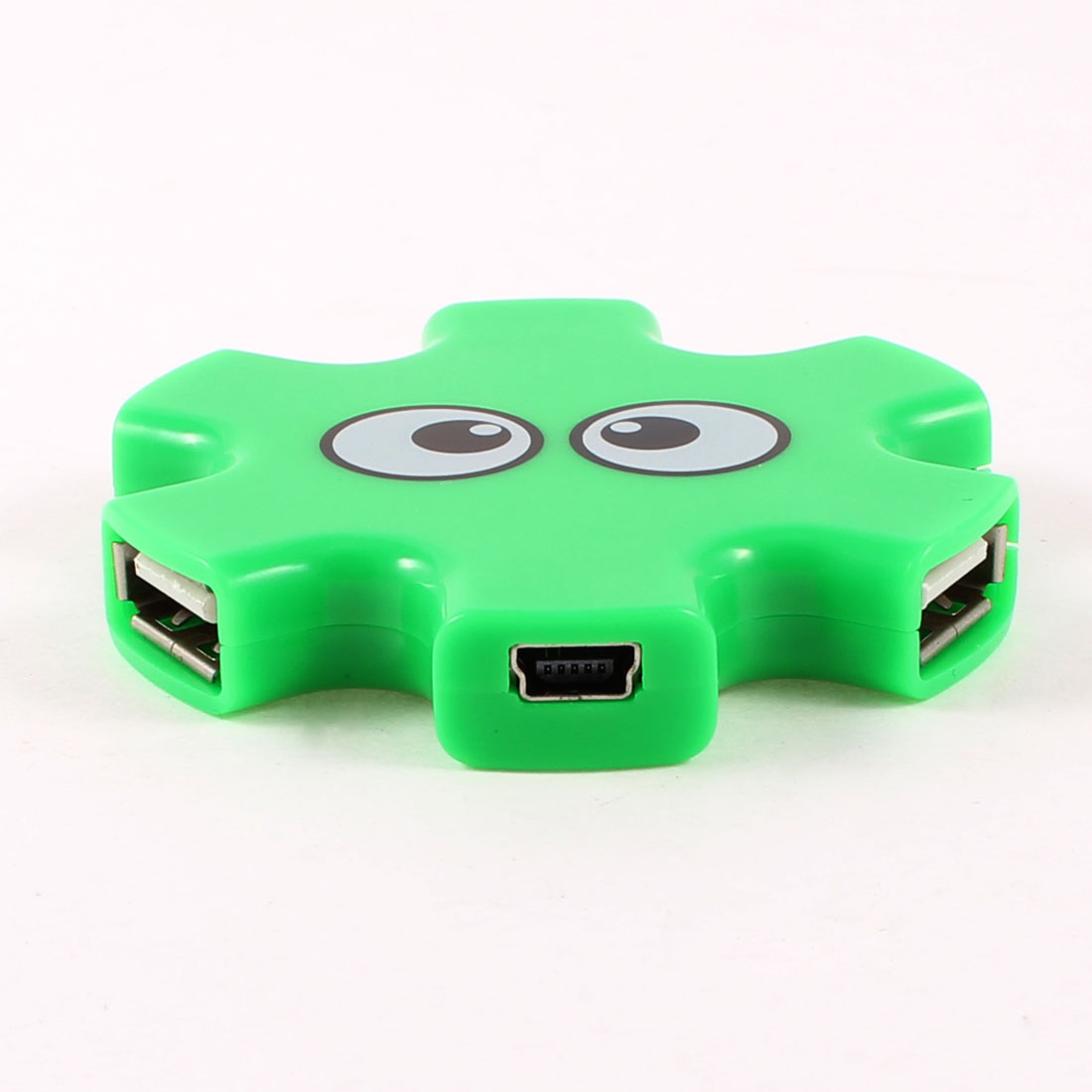 Green Plastic High Speed PC USB 2.0 4-Outport Hub Support WindowsXP 7 Linux 2.4