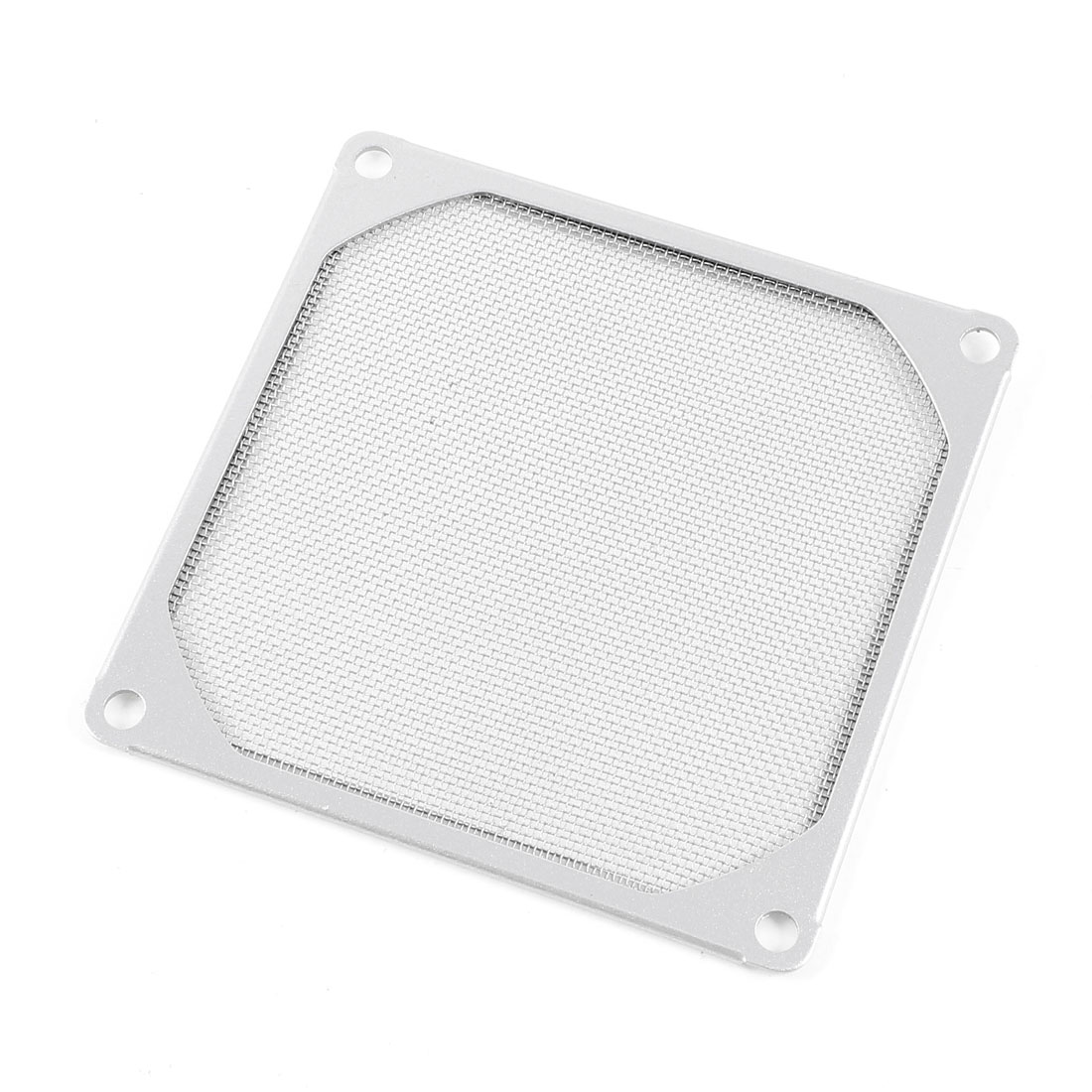 Computer PC Fan Filter Aluminum Mesh Dust Guard Silver Tone 120mm x 120mm