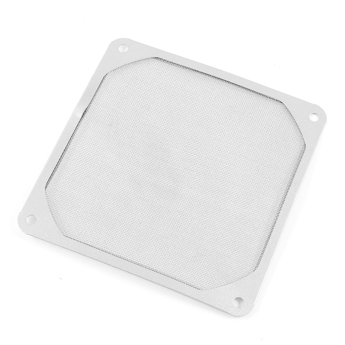 Computer PC Fan Filter Aluminum Mesh Dust Guard Silver Tone 90mm x 90mm