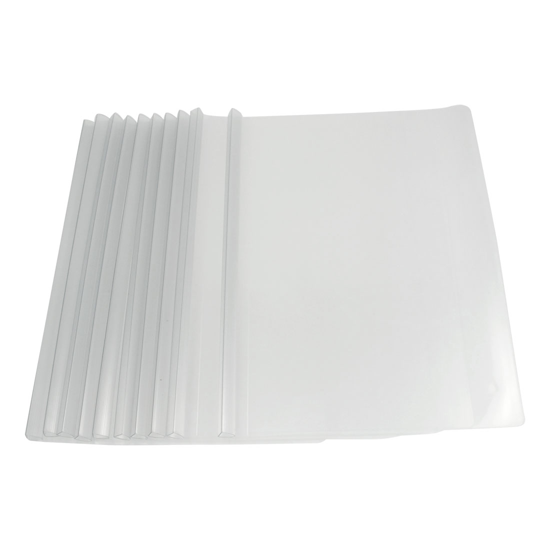 10 Pcs Plastic Clear White Sliding Bar File Folder for A4 Paper Report