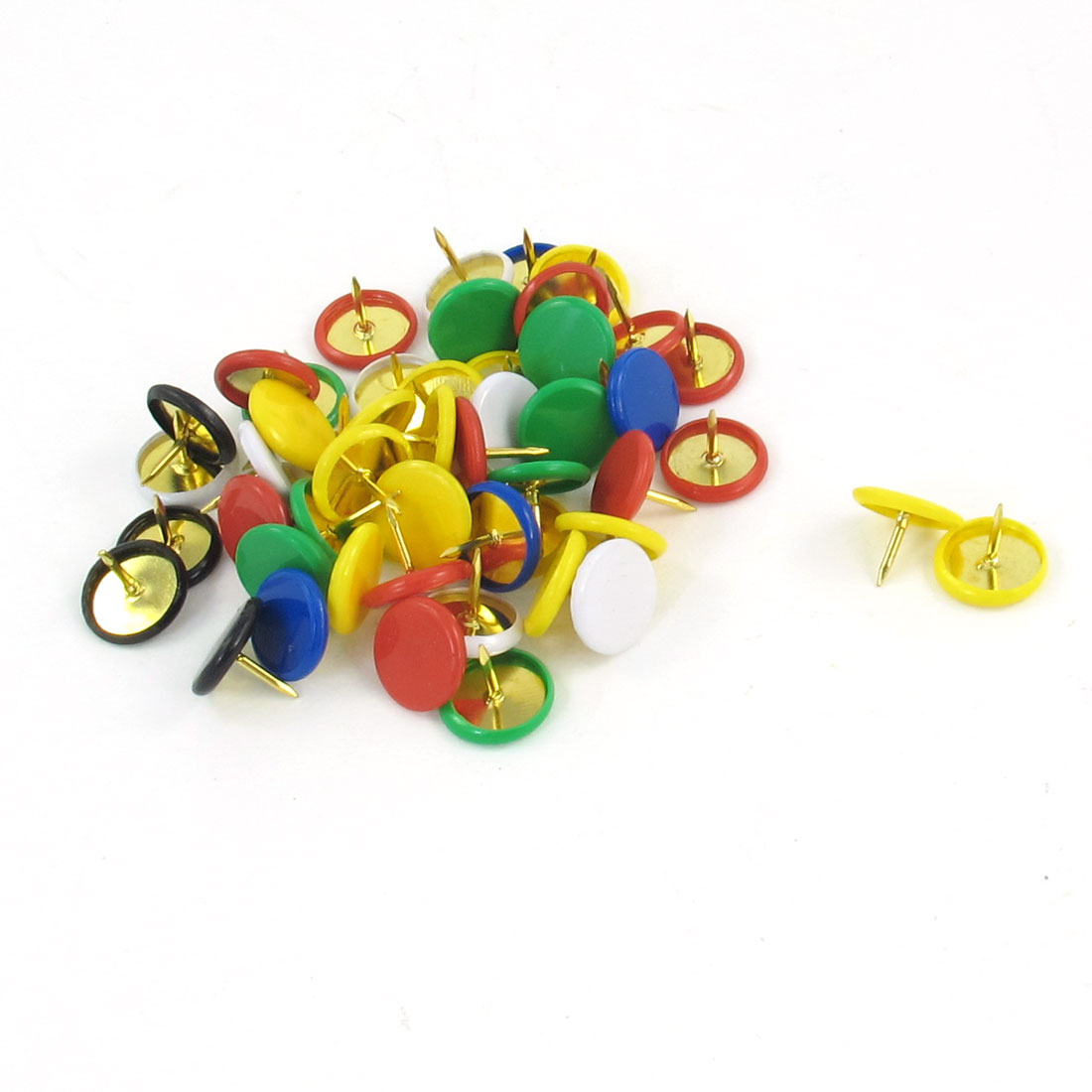 Multicolor Plastic Capped Metal Push Pins 52 Pcs for Cork Board