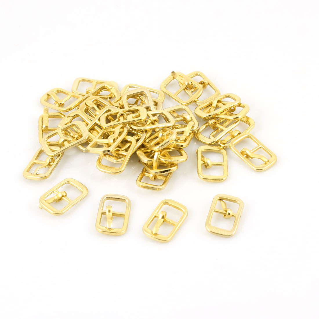 20 Pairs Gold Tone Metal Leather Shoes Ornament Needle Buckles