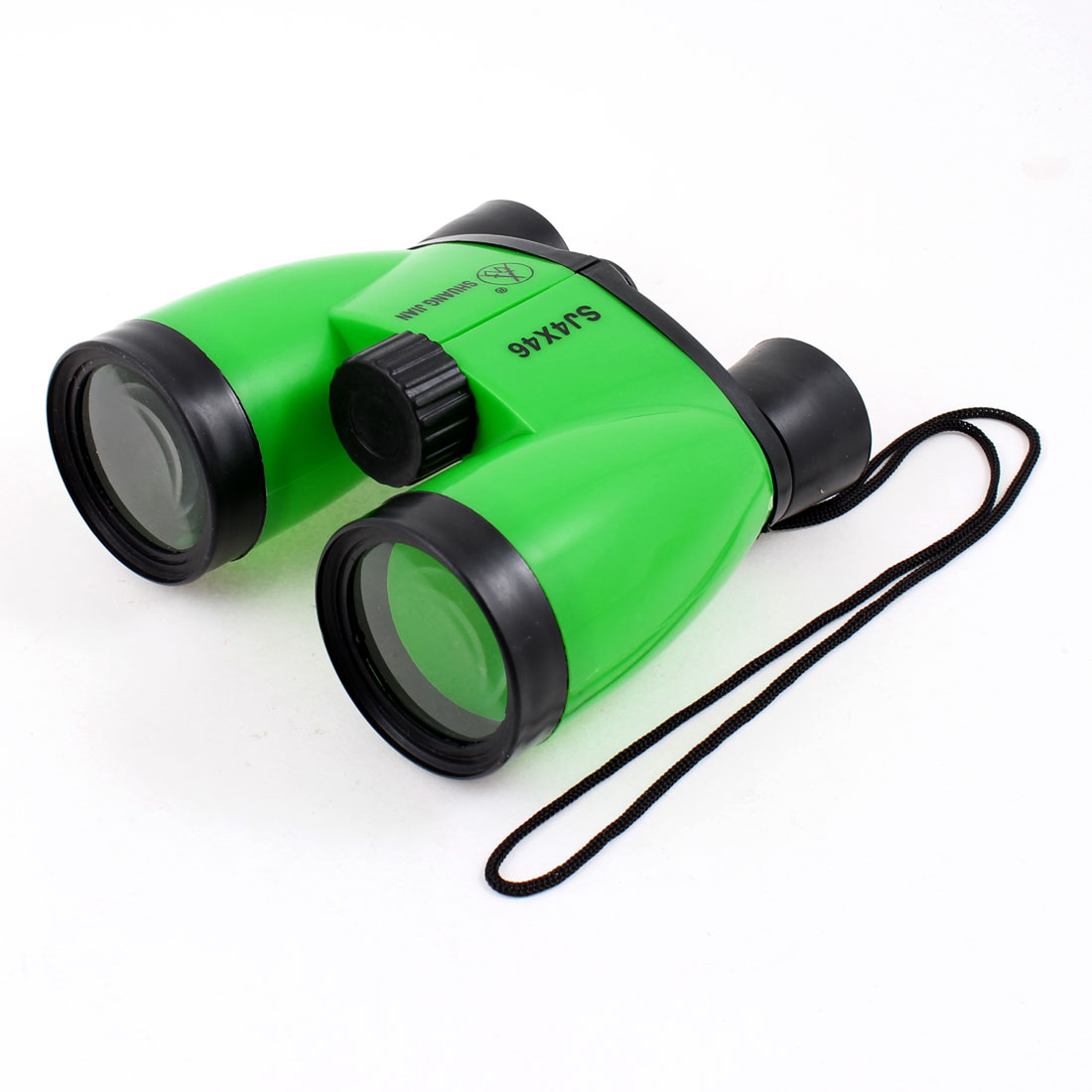 Children Kid Adjustable Binoculars 4X46 Telescope Toy Black Green w String
