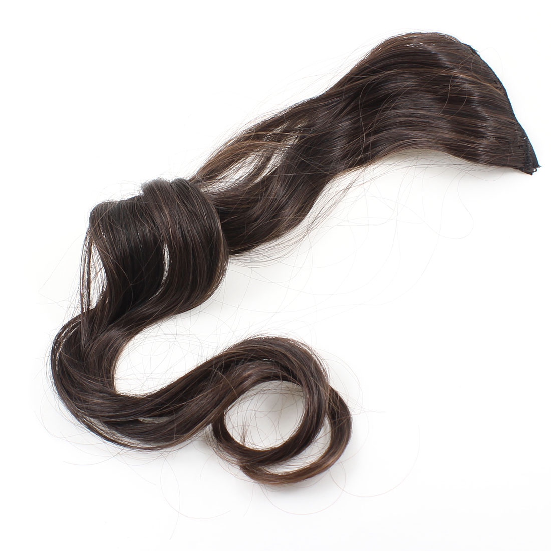 "20"" Headdress Long Curl Wave DIY Ponytail Wig Brown for Lady"