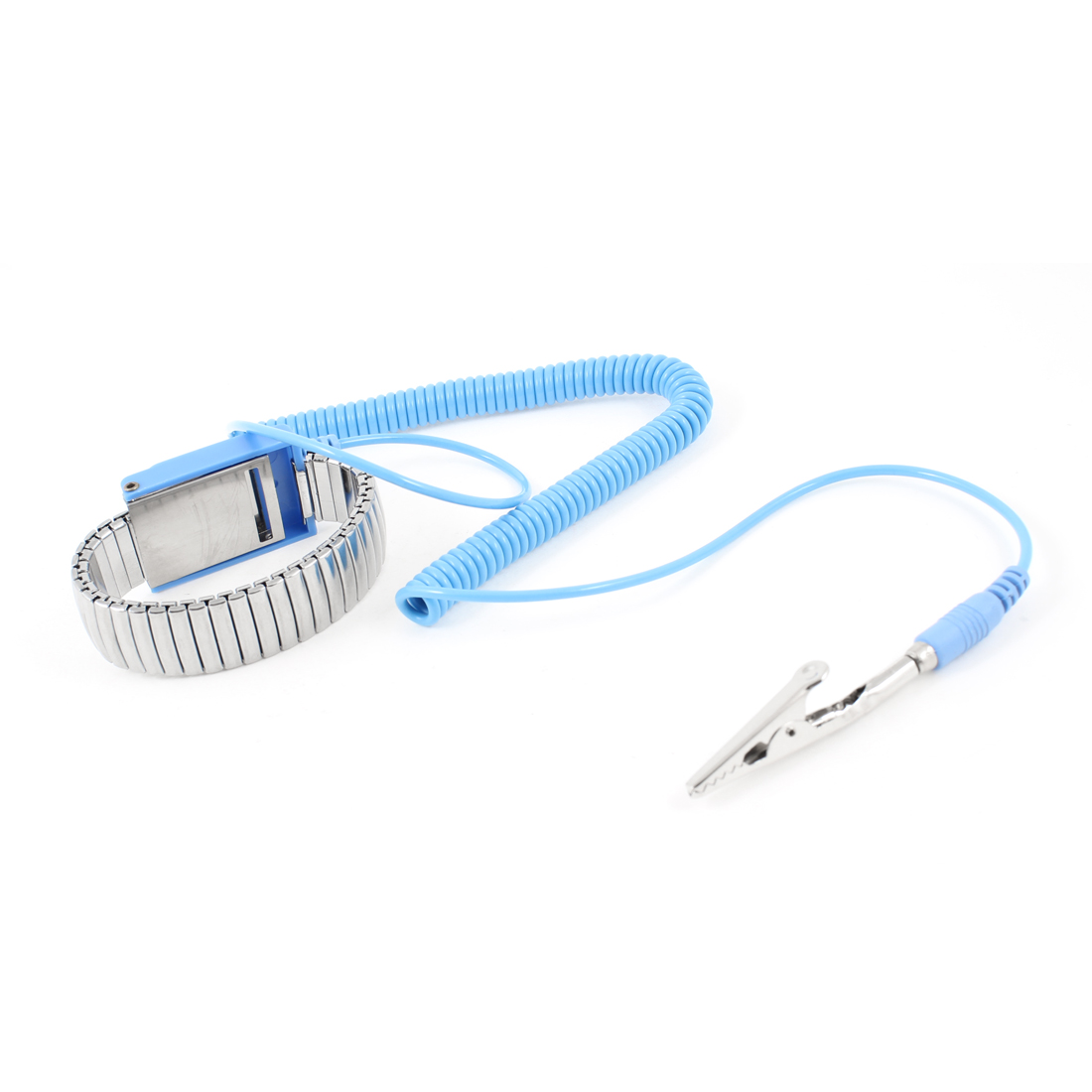 Antistatic ESD Wrist Band Metal Adjustable Grounding Bracelet Strap Blue
