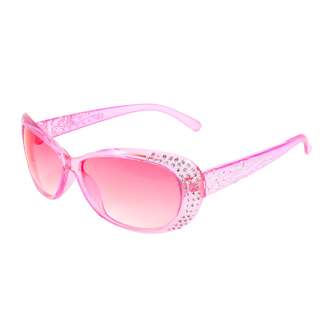 Outdoor Beach Woman Pink Oval Lens Eye Glasses Sunglasses Protector for Woman