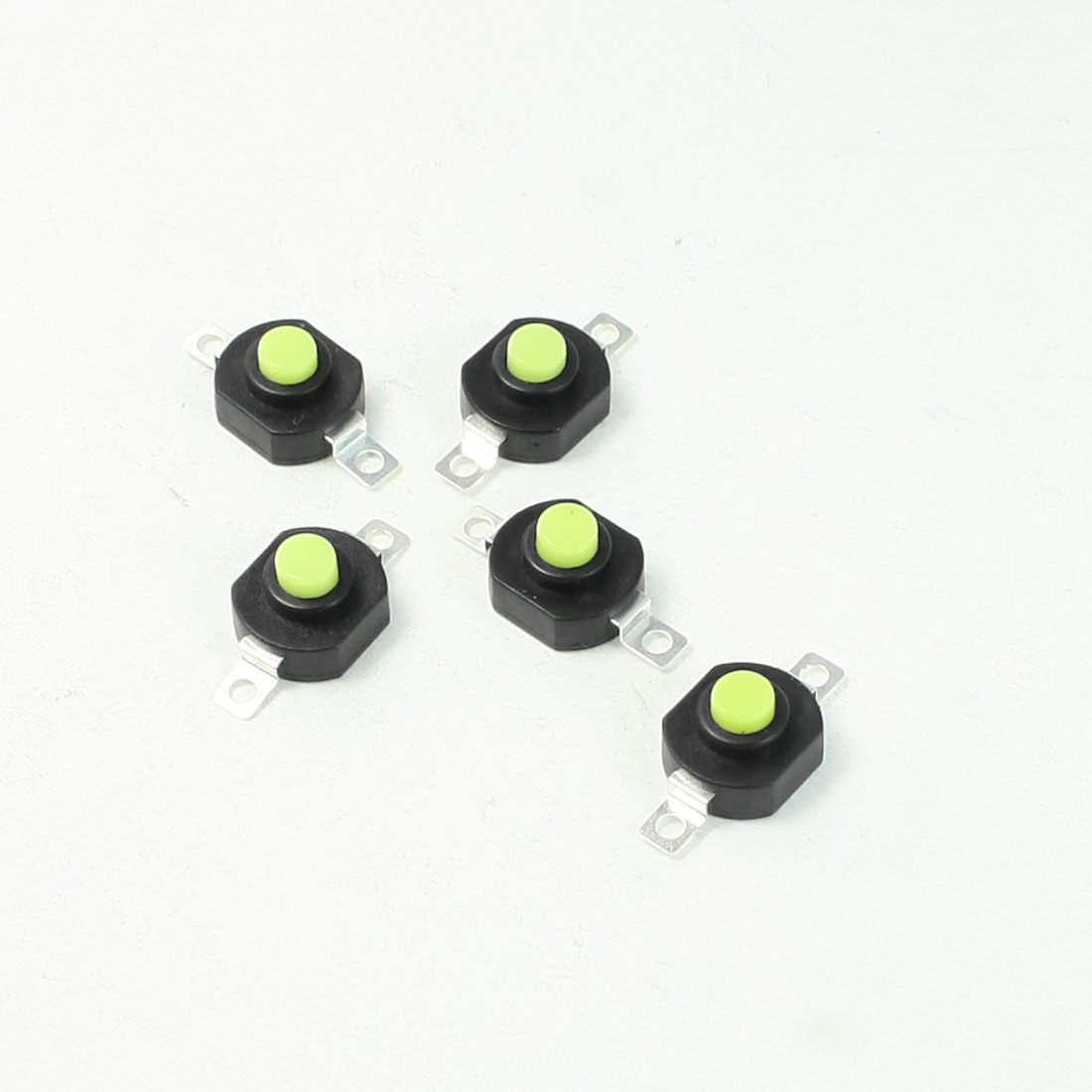 5 Pcs Horizontal On Off Position Torch Push Button Switch AC 250V 1.5A