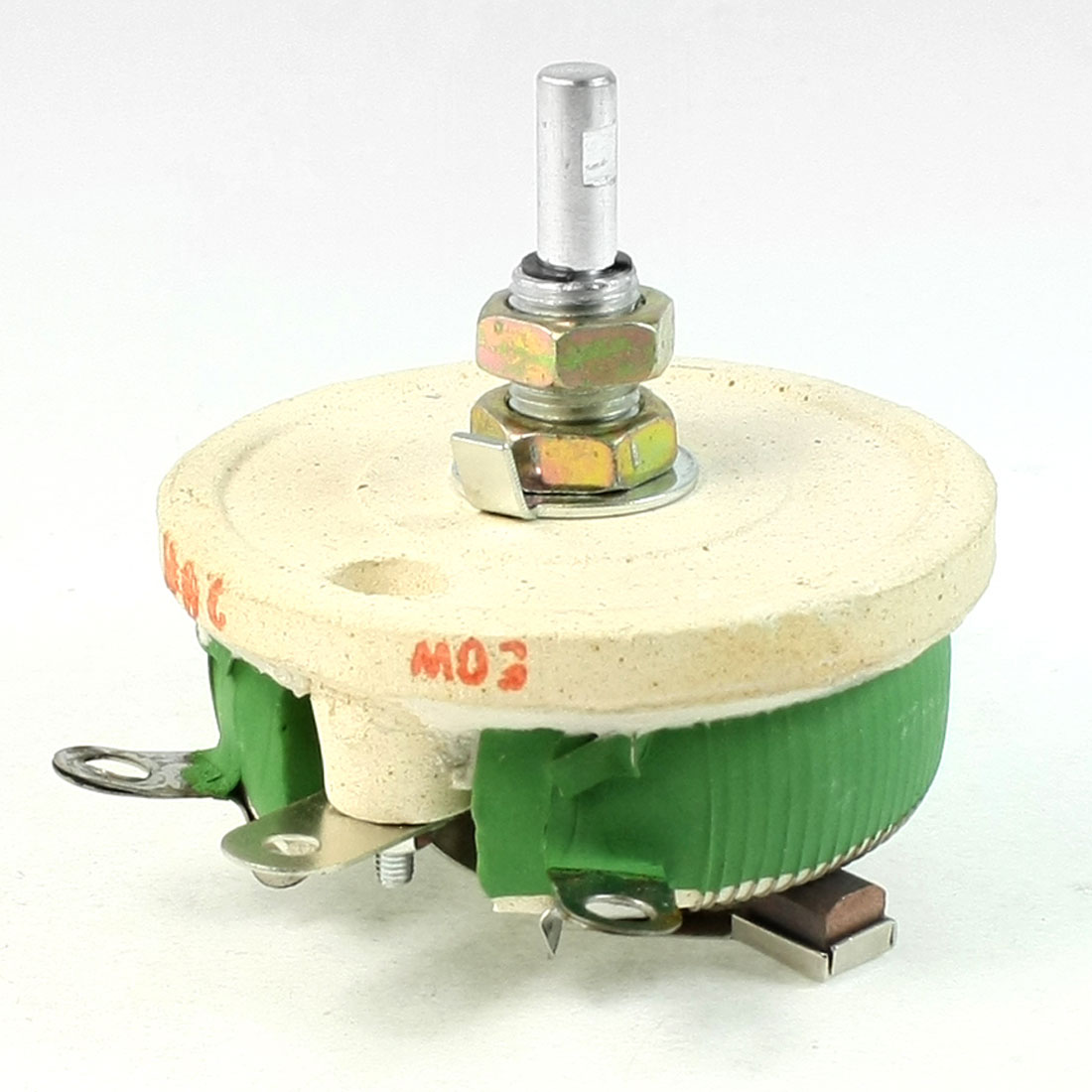 Ceramic Tray Adjustable Wirewound Resistor Rheostat 50W 20 Ohm