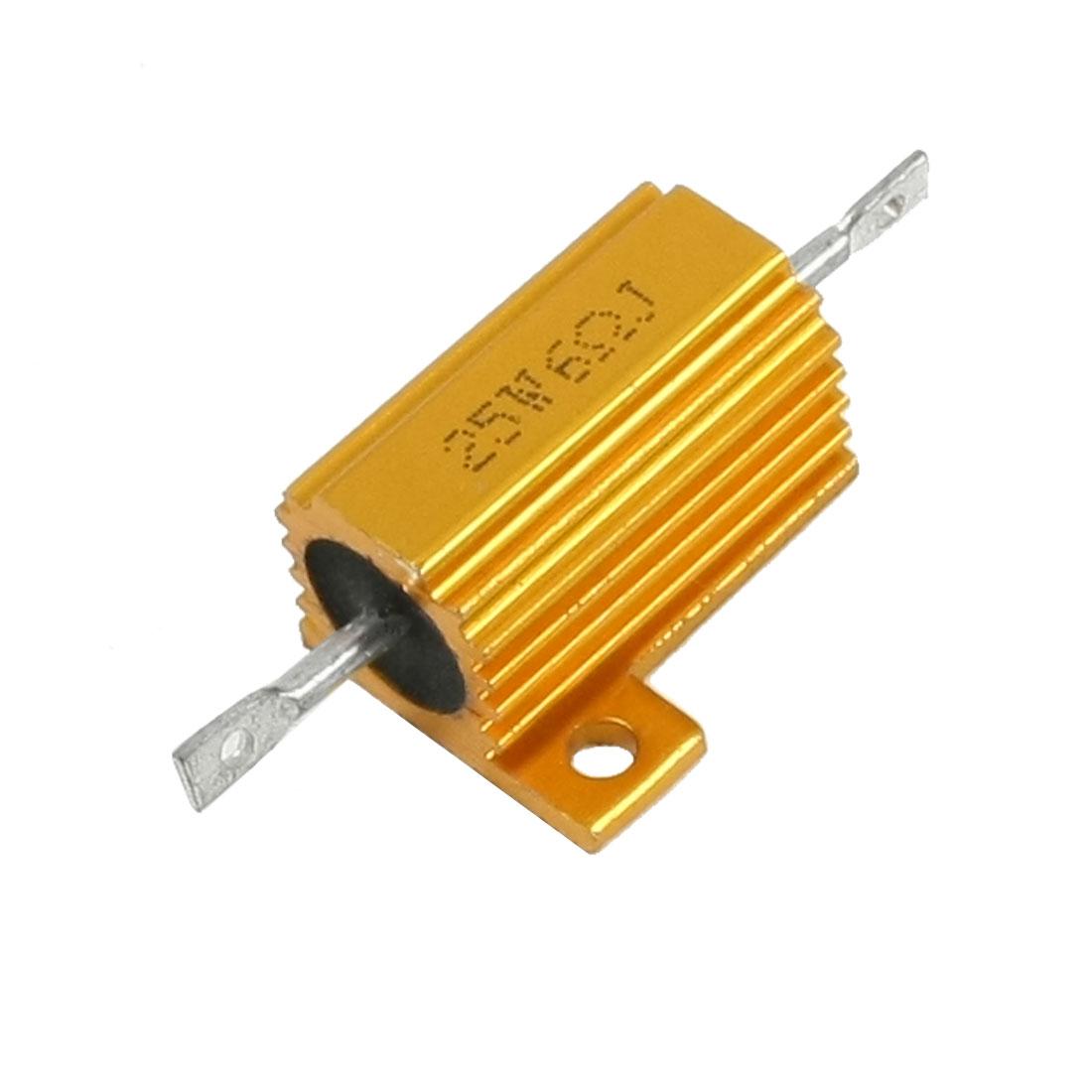 25W % 6 Ohm Gold Tone Resistance Aluminum Shell Resistors