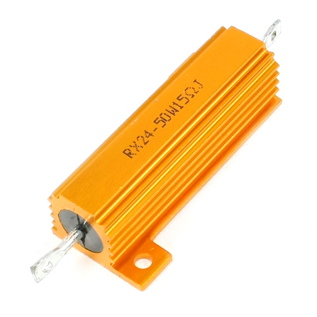Gold Tone Screw Tabs Aluminum Housed 50W 5% 15 Ohm Resistors