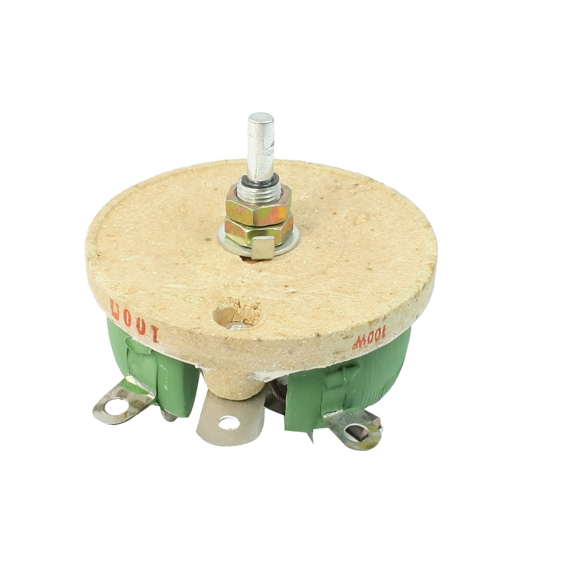 Ceramic Tray Adjustable Wirewound Resistor Rheostat 100W 100 Ohm