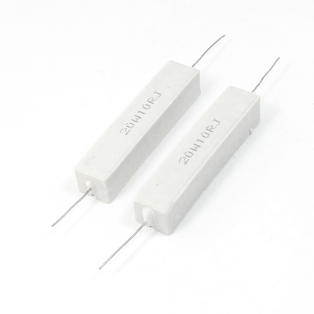 2 Pcs Axial Wirewound Cement Resistors 20W Watt 10 Ohm 5%