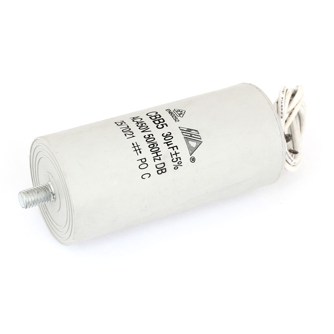 Threaded Rod CBB5 30uF Capacitance Motor Capacitor AC 450V