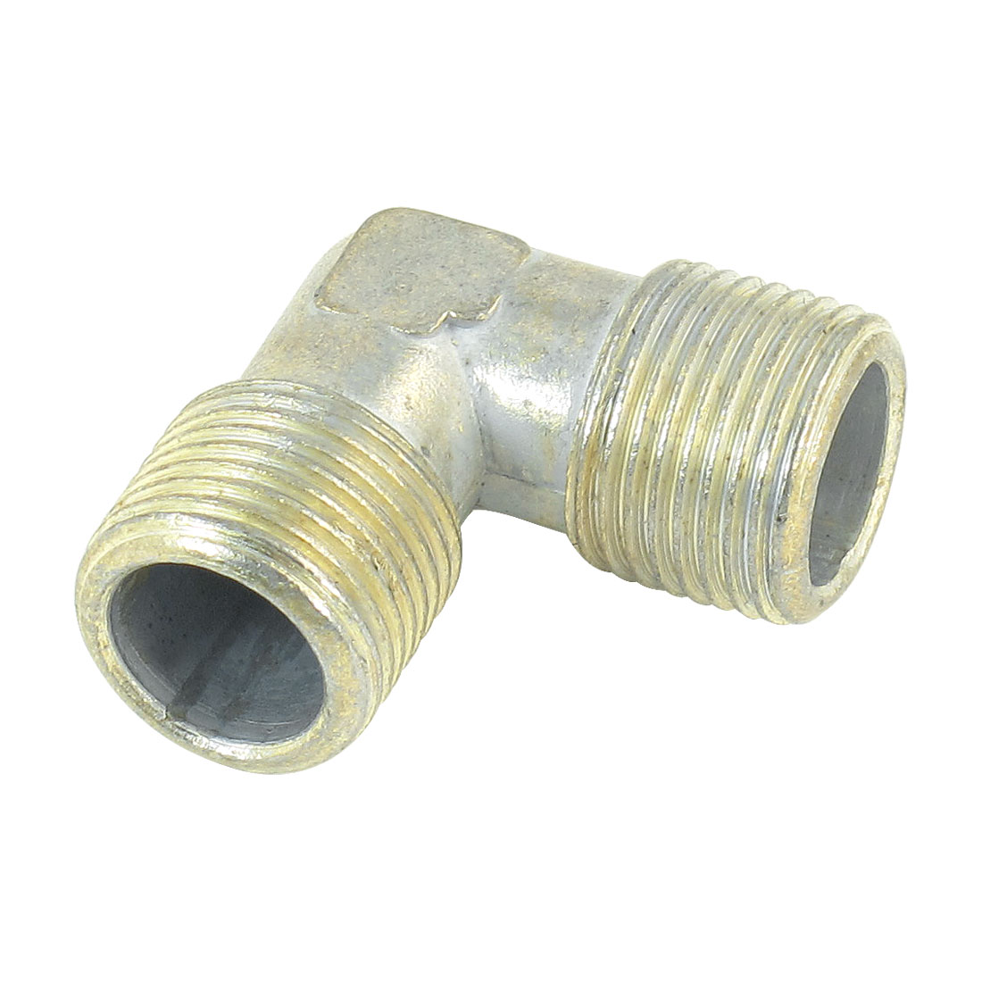 "3/8"" x 3/8"" 90 Degree Male to Male Equal Elbow Fuel Pipe Coupler Adapter"