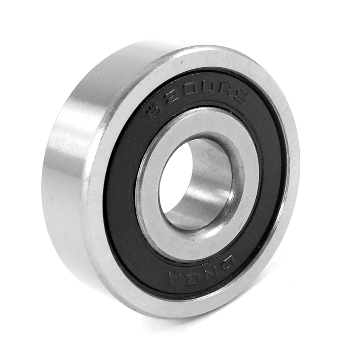 Replacement 6200RS Roller-Skating Deep Groove Ball Bearing Black 30mm x 10mm x 9mm