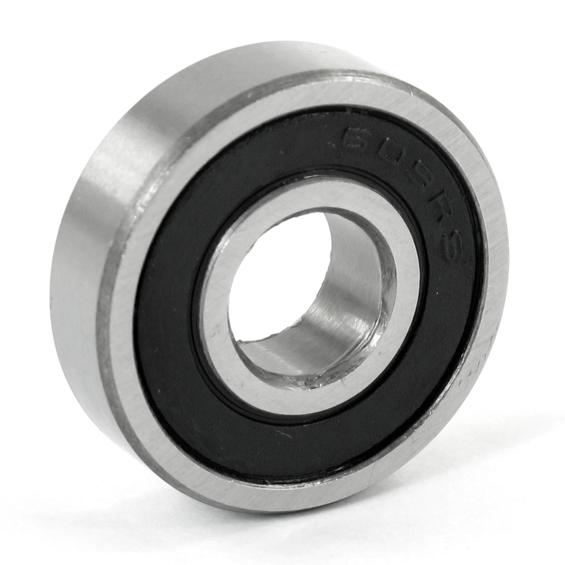 24mm x 9mm x 7mm Carbon Steel 6200RS Shielded Deep Groove Ball Bearing Black